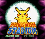 Pokemon stadum snes title