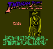 Indiana Jones and the Temple of Doom-Mindscape title