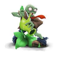 Pvz zombie eating peashotter