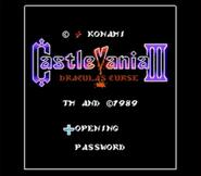 Castlevania III JU Title Screen