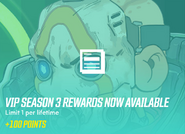 Vip season3 reawards now available