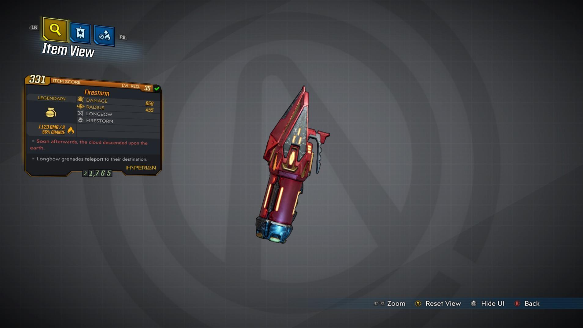 Firestorm (grenade mod)