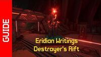Destroyer's Rift Eridian Writings