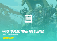 Ways to play moze the gunner