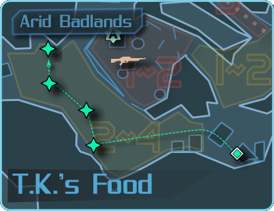 Nine-Toes: T.K.'s Food