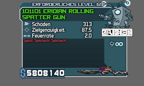 Eridian Rolling Spatter Gun