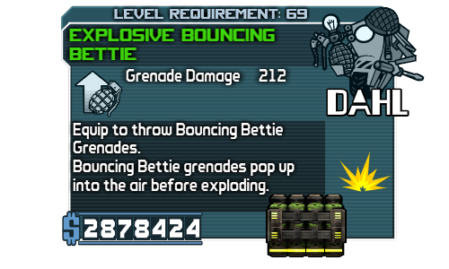 Bouncing Bettie Grenade