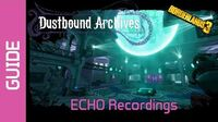 Dustbound Archives ECHO Recordings