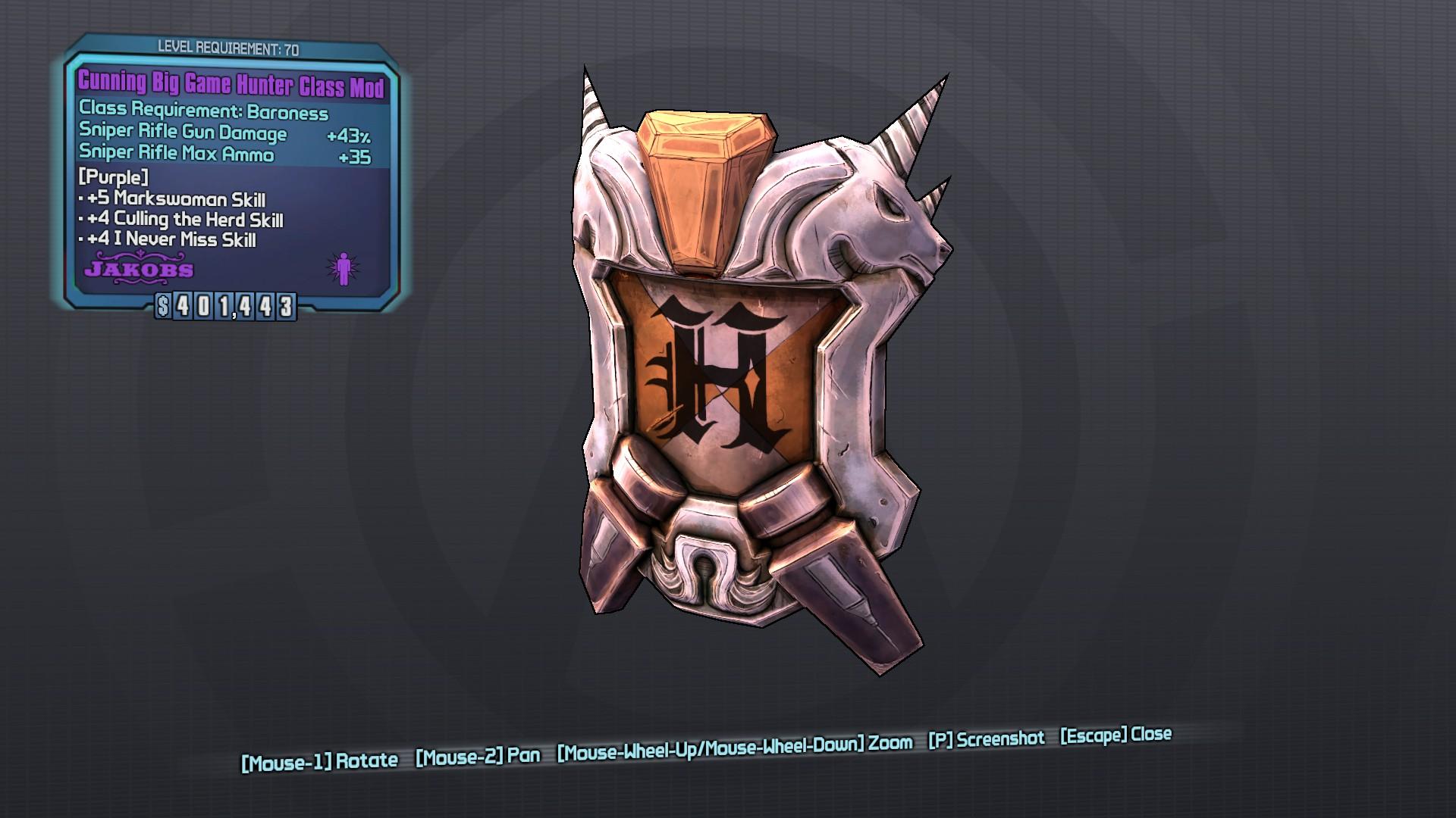 Big Game Hunter (class mod)