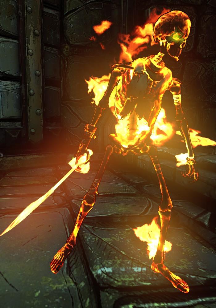 Fiery Skeleton