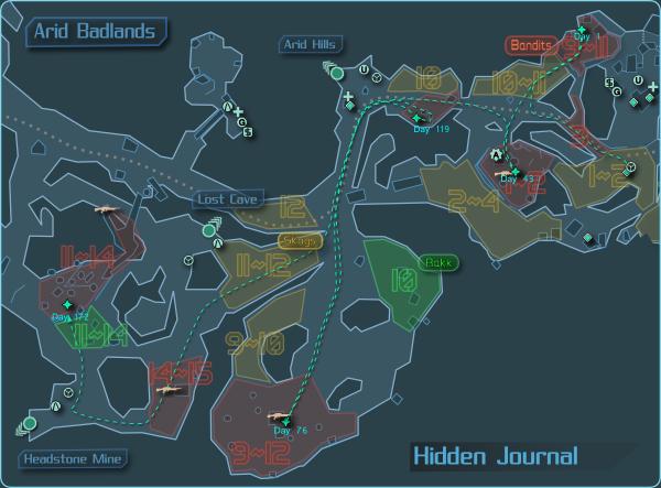 Hidden Journal: The Arid Badlands