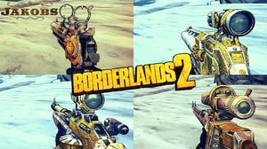 Borderlands 2 - Epic Jakobs Weapons - Animations & Sounds w Slow Motion