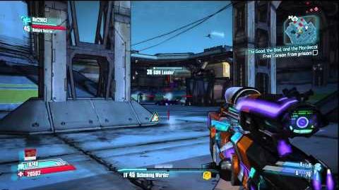 Borderlands 2 - Barking Railer Slag Sniper e-Tech