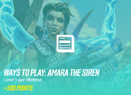 Ways to play amara the siren