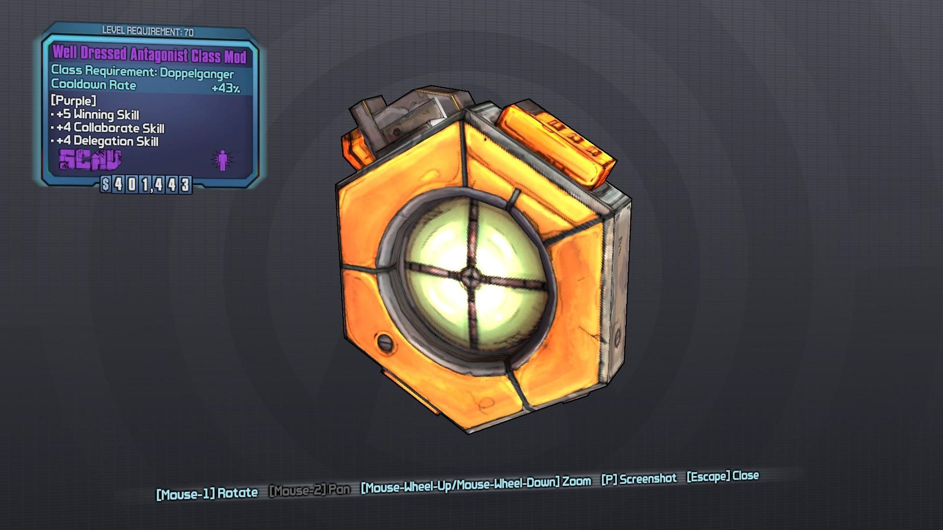 Antagonist (class mod)