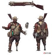 Borderlands2 character npc sir hammerlock ver 1 by matias tapia