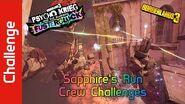 Sapphire's Run Crew Challenges