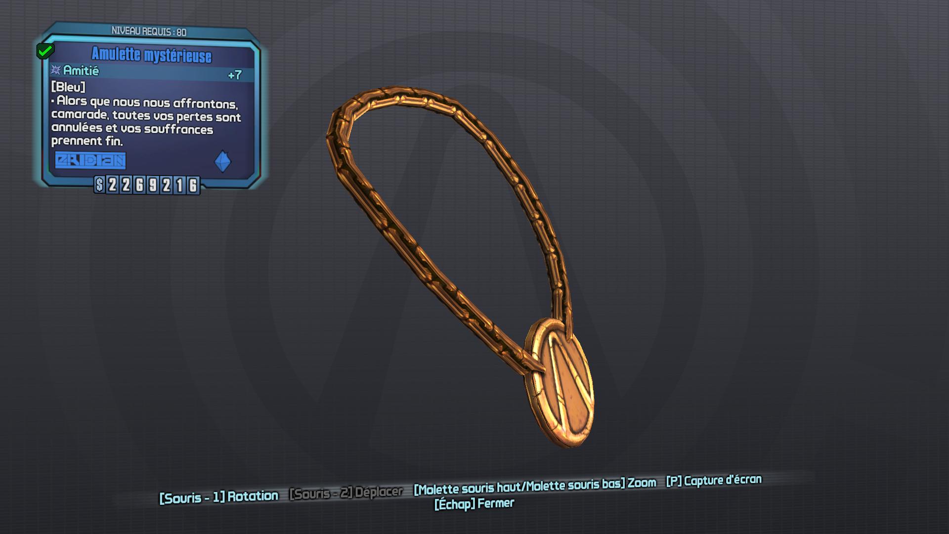 Amulette mystérieuse