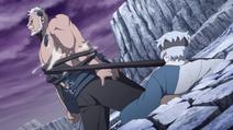 Mitsuki use Soft Physique Modification technique to stop Boro