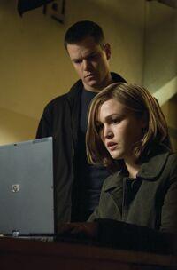 Nicky helping Bourne