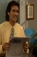 Mr. Turner reading the newspaper