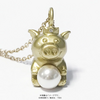 Pig-charm-necklace