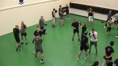Punching at PT training