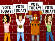 Voting - Rita, Tim, Moby, Cassie