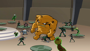 Green Lanterns surround K'vellian
