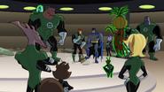 Green Lanterns make Guy clean up