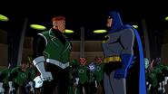 Batman and Guy face to face