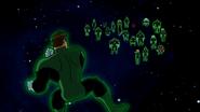 Hal Jordan facing Green Lanterns