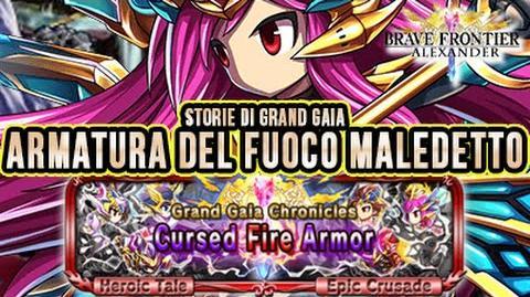 BRAVE FRONTIER RPG EU GGC REEZE Armatura del Fuoco Maledetto storie di grand gaia - Volume 3