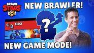 Brawl Talk New Brawler, New Game Mode, New Skin!