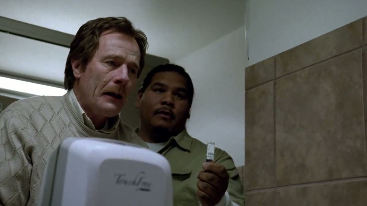1x06 - Hugo offering Walt gum.jpg