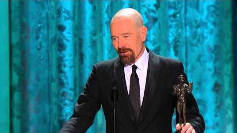 19th SAG Awards Acceptance Speech Bryan Cranston, Male Actor in a Drama Series (2013)