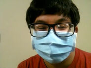 Brian wearing his Covid mask