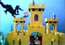 The dragon attacks the castle