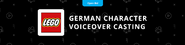 LEGO German Character Voiceover Casting Project