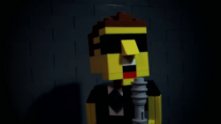 The man sings about his LEGO-related woes