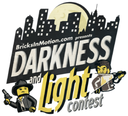 The Darkness and Light logo, designed by Nathan Wells and Danielle DeMartini[1]