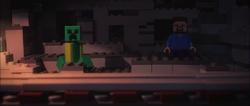 Niko and Steve in a mine shaft
