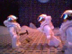 The astronaut is invited to dance