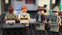 Mace, Obi-Wan, Indy, and Henry, in Fast N' Fried