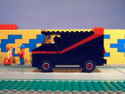 The A-Team drive towards the crime scene