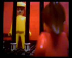 Phil the Playmobil and Melanie fall in love