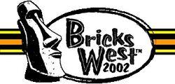 The logo of the 2002 BricksWest Festival
