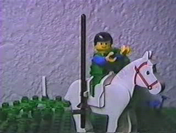 Squire Geoffrey heads for the king's castle