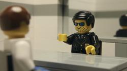 The cop interrogates Ben