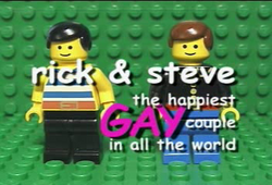 The Rick & Steve title card